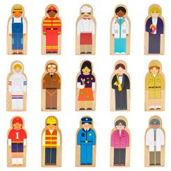 Little Professionals Wooden Character Play Set