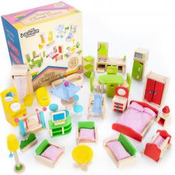 Home Sweet Home Dollhouse Furniture Collection contains 41 pieces