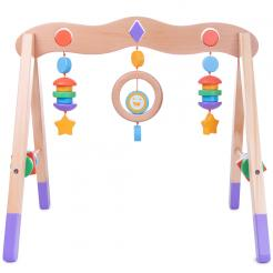 Little Olympians Wooden Baby Gym is a high quality infant toy that help develop reflexes and stimulate senses