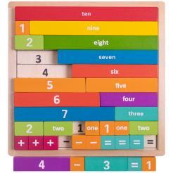 Professor Poplar's Astounding Arithmajig is a 32 piece teaching STEM toy