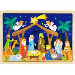 24 Piece Nativity Wooden Puzzle