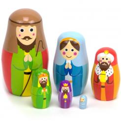 Nesting Nativity includes 6 nesting dolls in this classic holiday toy