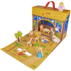 My First Noel Nativity Story Box is a 14 piece classic holiday toy