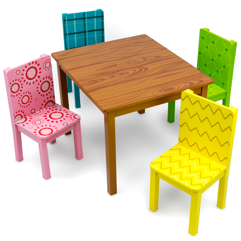 Funny Furniture Table And Chairs Set Tfur 001