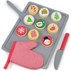 Cookies for Santa is a fun 22 piece holiday wooden play food set