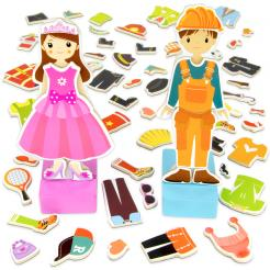 Zoey & Joey Magnetic Dress-up Play set